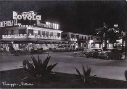 VIAREGGIO DI NOTTE - LUCCA - INSEGNA PUBBLICITARIA BIRRA TUBORG / ACQUA ROVETA SCANDICCI / FERNET BRANCA - 1959 - Viareggio