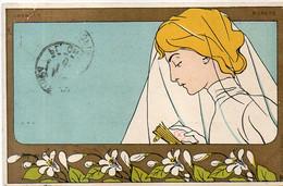 Henti MEUNIER - Femme Art Nouveau - Oranger - Pureté   (6694 ASO) - Altre Illustrazioni