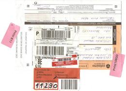 France 2021 - Dos De Colissimo Intern. - Etiquette Renvoi Au Code Postal - Adresse Incomplète - Aude > Bruxelles > Aude - Lettres & Documents