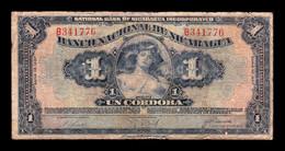 Nicaragua 1 Córdoba 1937 Pick 63b BC F - Nicaragua