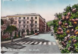 Italië - Ligurië - Alassio - Via Aurelia - Kleur/color - Gebruikt - Andere Städte