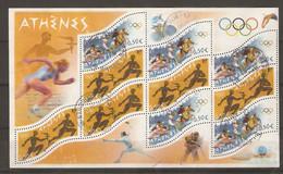 France 2004 - Jeux Olympiques D'Athènes - Bloc 73 - Canoé - Tennis - Equitation - Judo - Escrime - Oblitérés