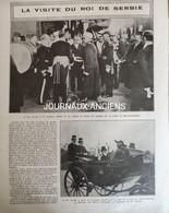 1911 LA VISITE DU ROI DE SERBIE EN FRANCE - CHAMP D'AVIATION DE BOIS D'ARCY - ÉCOLE DE SAINT CYR - 1900 - 1949