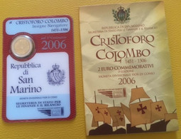 Saint-Marin 2 Euro Commémorative 2006 - Christophe Colomb - Coincard - San Marino