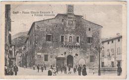 Cartolina - Cagli - Piazza Vittorio Emanuele II E Palazzo Comunale - Pesaro
