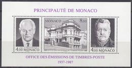 MONACO Block 37 A, Postfrisch **, 50 Jahre Amt Für Briefmarkenausgaben 1987 - Blocks & Sheetlets