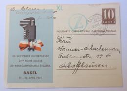Reklame  Ganzsache Basel 25.Schweizer Mustermesse  1941  ♥ (61034) - Otros