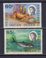 BIOT 1970, Mi# 37-38, Part Set, Fish, MNH - British Indian Ocean Territory (BIOT)