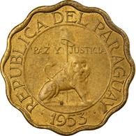 Monnaie, Paraguay, 10 Centimos, 1953, TTB, Aluminum-Bronze, KM:25 - Paraguay