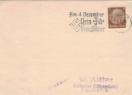 Eger 1938 - Am 4. Dezember Dein Ja Dem Führer - Hindenburg SST - Brieven En Documenten
