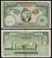 PAKISTAN BANKNOTE - 100 RUPEES P#18a F/VF (NT#04) - Pakistan