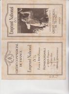 PIEGHEVOLE CREDIT COMMERCIAL DE FRANCE  .  EMPRUNT  NATIONAL . ILLUSTRATO DA  CHAVANNAZ - Historical Documents