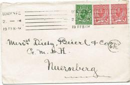 GB 1913 King George V Downey Head Type IB 1/2d W INVERTED WATERMARK And 2 X 1d W. Normal Upright Watermark Rare Postage - Abarten & Kuriositäten