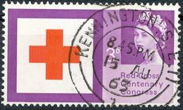 "1963 100 Years International Red Cross 3p Superb Used W LONDON CDS""KENNINGTON.S.E.II / 1 - 15 AU 63"" MAJOR PHOSPHOR-VAR - Abarten & Kuriositäten"