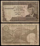 PAKISTAN BANKNOTE - 5 RUPEES (1976-84) P#28 F (NT#04) - Pakistan
