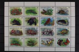 Weihnachtsinseln, Tiere, MiNr. 233-248 II ZD-Bogen, Postfrisch / MNH - Christmas Island
