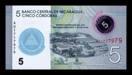 Nicaragua 5 Córdobas Commemorative 2020 Pick New Polymer SC UNC - Nicaragua