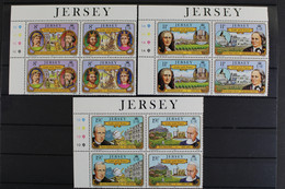 Jersey, MiNr. 282-287, Je 2 Paare Im Viererblock, Postfrisch / MNH - Jersey