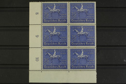 Deutsches Reich, MiNr. 698, 6er Block, Ecke Li. Unten, Ungebraucht / Unused - Unused Stamps
