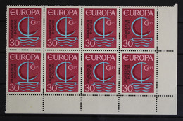 Deutschland (BRD), MiNr. 520 PLF I, 8er Block, Ecke Re. Unten, Postfrisch / MNH - Errors And Oddities