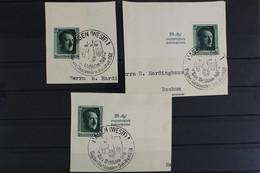 Deutsches Reich, MiNr. 647, 648, 650, Briefstück - Used Stamps
