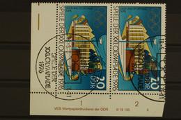 DDR, MiNr. 2128, Paar, Ecke Re. Unten, DV II, ESST - Unclassified