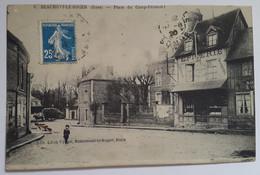 Carte Postale Beaumont Le Roger Place Du Camp Frémont 1920 - Beaumont-le-Roger