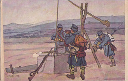 A2097- LEVELEZO-LAP NAGYENYED AIUD ROMANIA  ARMY MILITARY 1915 USED  POSTCARD - Guerra 1914-18