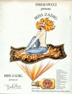 "PUB PARFUM   ( MISS ZADIG ) De "" EMILIO PUCCI  ""  1973 ( 1 ) - Unclassified"