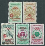 Khmère N° 316 / 20 XX  Jeux Olympiques De Munich,  Les 5 Valeurs Sans Charnière, TB - Kampuchea