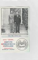 Calendiaretto - Partito Monarchico Popolare (Presidente Achille Lauro) - Small : 1941-60