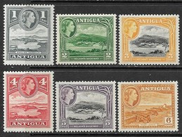 Antigua   1953   Sc#108-13   6 Diff MNH  To The To The 6c    2016 Scott Value $6.85 - 1858-1960 Kolonie Van De Kroon