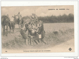 GUERRE DE 1914 CUIRASSIER BLESSE SOIGNE PAR SES CAMARADES CPA BON ETAT - War 1914-18