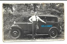 Oldtimer - Photo Originale 9 Cm X 5,5 Cm Prise En 1938 à Compiègne (F) - Voitures Anciennes - Ancêtres Automobiles - Auto's