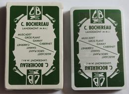 Jeu De 32 Cartes à Jouer Héron Publicitaire C. Bochereau Landemont Vin Muscadet - 32 Cards