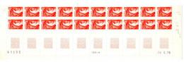 FRANCE N° 1968 0.30 ORANGE TYPE SABINE BAS  DE FEUILLE 20 TPS COIN DATE A GAUCHE DU 20.6.1978 - 1980-1989