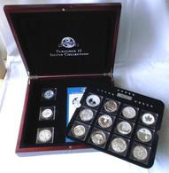 Edles Holzetui Mit 15 Münzen Fabulous 15 Silvercollection 2011 (117062) - Other Coins