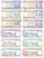 2 Bis 100 Dollar Banknoten Barbados (2000) Pick 60-65 UNC (115848) - Other - America