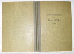 Einwohner Buch Der Stadt Rötha 1926 - Livres Anciens