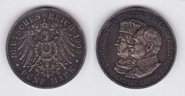 5 Mark Silbermünze Sachsen 500 Jahrfeier Universität Leipzig 1909 (140723) - 2, 3 & 5 Mark Plata