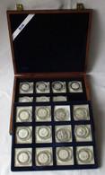 Sammlung Olympische Spiele 1992 19 Silbermedaillen 999/1000 PP (124649) - Other Coins