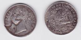 1 Rupie Indien 1840 Mit Gegenstempel Jemen 1307 Östl. Aden Protektorat (119283) - United Arab Emirates