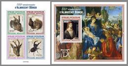 CENTRALAFRICA 2021 MNH Albrecht Dürer Paintings Gemälde Peintures M/S+S/S - OFFICIAL ISSUE - DHQ2114 - Sonstige