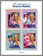 CENTRALAFRICA 2021 MNH Marilyn Monroe M/S - OFFICIAL ISSUE - DHQ2114 - Beroemde Vrouwen