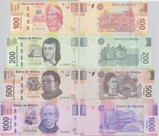 100 Bis 1000 Pesos Banknoten Mexiko (2004-2006) Pick 124-127 UNC (114795) - Other - America