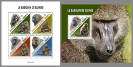 GUINEA REP. 2021 MNH Guinea Baboon Pavian Babouin M/S+S/S - OFFICIAL ISSUE - DHQ2114 - Mono