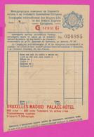 261316 / Bulgaria Menu  Compagnie Internationale Des Wagons-Lits , Bruxelles Madrid Palace Hotel Belgium Spain - Menus