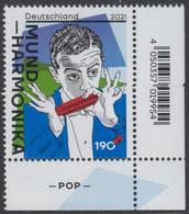 !a! GERMANY 2021 Mi. 3601 MNH SINGLE From Lower Right Corner - Harmonica - Nuevos