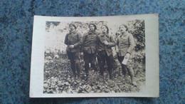 CARTE PHOTO  -  QUATRE CHASSEURS ALPIN  FAISANT LA POSE PHOTO - War, Military