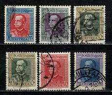 Eritrea 1931 Yv  188, 189, 2 X 191, 192, 193  (o) Used / Obl / Gebr - Eritrea